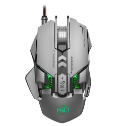 HSJ J800 6400 DPI Wired LED RGB Backlight Full-key 7 Mechanical Gaming Mouse for PC Laptop