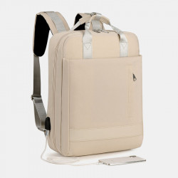 Women Multifunction Waterproof Pure Color Casual Patchwork Backpack