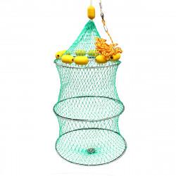 ZANLURE Nylon 11 Floats Floding Fishing Net Crab Fish Minnow Crawfish Shrimp Net