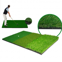 40X60cm Golf Practice Mat Artificial Lawn Nylon Grass Rubber Tee Backyard Outdoor Hitting Training Pad Golf Accessories