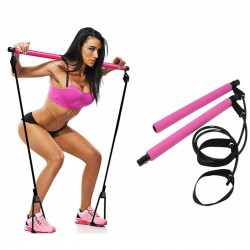 Multifunctional Portable Pilates Bar Fitness Stick Yoga Resistance Bands Home Gym Exercise Tools