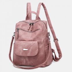 Women Multifunctional Fashion Large Capacity Faux Leather Backpack