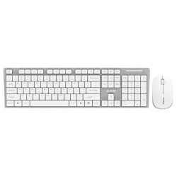 Ajazz A2080i 2.4Hz Wireless Mute Waterproof Portable Keyboard and Mouse Set for Laptop PC
