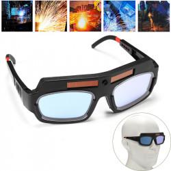 Solar Powered Auto Darkening Welding Mask Helmet Goggle Welders Glasses Arc PC Goggles For Welding Protection