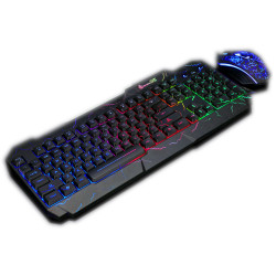 Shipadoo D620 104 Keys USB Wired RGB Backligh Mechanical Keyboard and 1600DPI Ergonomic Mouse Combo for Laptop Notebook Computer PC