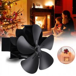 7.1inch 1500RPM 5 Blade Fireplace Fan Winter Warm Stove Heater Fan Heat Powered Fan