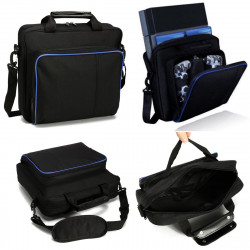 Carrying Bags For PS4 Black Multifunctional Travel Carry Case