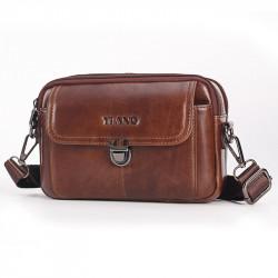 Men Genuine Leather Belt Multi-function Suede Leather Messenger Bag Waist Bag Shoulder Bag