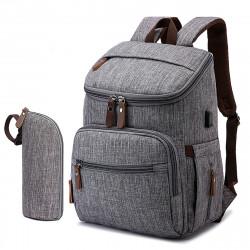 2 Pcs USB Mummy Backpack Waterproof Baby Diaper Bag Nappy Storage Bag Women Travel Shoulder Bag