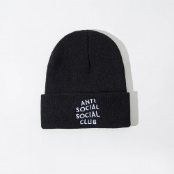 Unisex Solid Anti-social Print Knitted Wool Hat Skull Cap Beanie