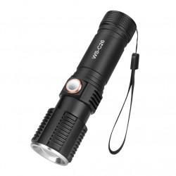 WS-C26 T6 3Modes USB Rechargeable LED Flashlight Outdoor 18650/26650/AAA Flashlight