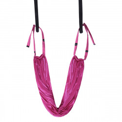 Aerial Yoga Fitness Hammock Door Swing Trapeze Elastic Stretch Strap Workout Sling