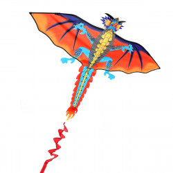 3D Huge Dragon Kite Family Outdoor Sports Flying Toy With 30m Kite Line