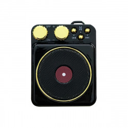 Wireless bluetooth 5.0 Speaker Retro Record Player FM Radio AUX Dual Antenna Mini Portable Speaker