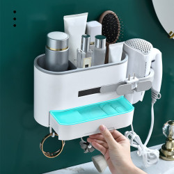 Toilet Shelve Hair Dryer,Curling Wand or Straightener Comb Holder Bathroom Wall Mount Stand Set Wall Hanger