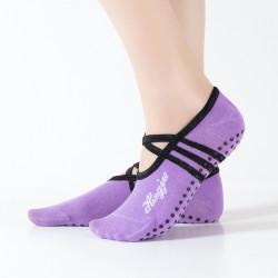 Women Round Head Backless Yoga Sock Non-slip Socks