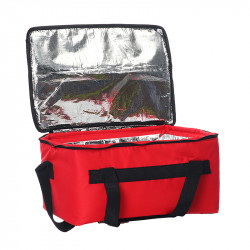 21/47L Thicken Insulated Bag Insulated Hot Food Pizza Takeaway Bag Waterproo Shoulder Bag