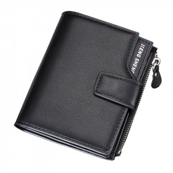 Hengsheng Men's Multifunction Trifold Wallet PU Leather ID Credit Card Holder Coin Pocket