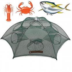 ZANLURE 6 Hole Automatic Fishing Net Folding Shrimp Fish Fishing Bait Trap Mesh