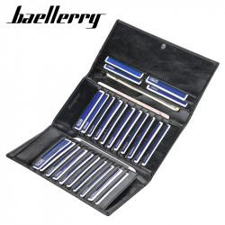 Baellerry Men Faux Leather Long Wallet Card Holder Zipper Phone Bag Clutches Bag