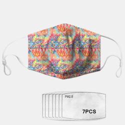 Printed Ethnic Dust Mask PM2.5 7-piece Gasket Masks